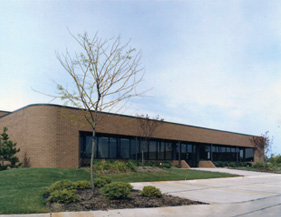exterior view of Mill Rose Labs building